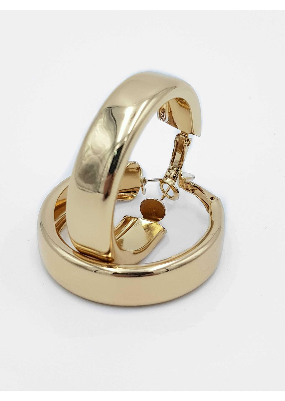 Argolas Grossas Douradas Antialergicas